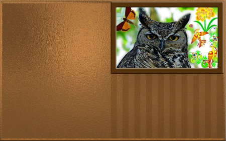 Simple Desktop Background - owl, desktop, simple art, business