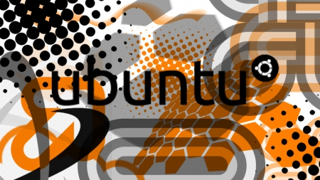 Ubuntu Vector I - wallpaper, ubuntu, black, vector, linux, wide, orange, unix, white, design
