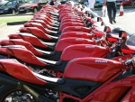 Red Ducati Motorcycles