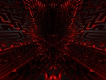 Black and Red Maze