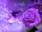 Purple Rose and Bird
