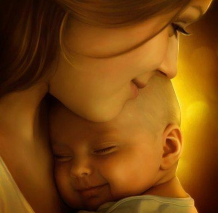 Dedicated to all the beautiful Mom's in DN - beautiful, mothers day, mother, child, face, profile, art, baby