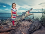 girl with crocodil