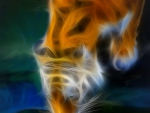 abstract tiger