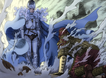 God Vs Apostle - God Hand, Demon, Berserk, Griffith, Manga, Anime, Neo Band Of The Hawk, Apostle, Femto, Ganishka, Angel, White Hawk