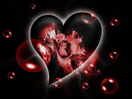 I Love You - rose, heart, valentine, bubbles, its so cool, love, red, valentines day, valentines, i love you