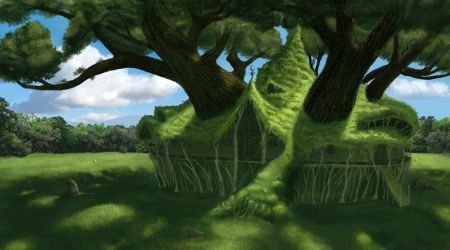 Mansion of the Spirit Tree - Clouds, Berserk, Manga, Grass, Anime, Schierke, Trees, Sky, Flora, Home, Mansion Of The Spirit Tree