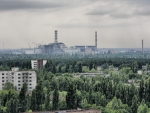 ominous abandoned nuclear plant at chernobyl ukraine