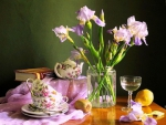 Tea Time with Irises