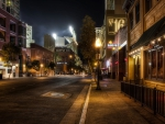 san diego street by the stadium at game time hdr