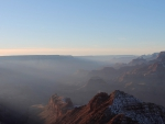 morning fog in the grand canyon