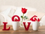 love,cup,table,rose