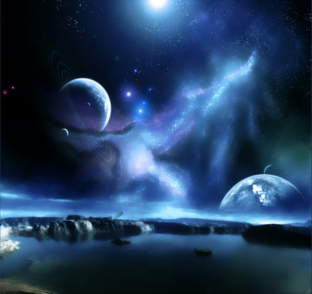 Strange Space Galaxies Amp Space Background Wallpapers On