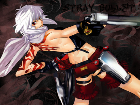 Stray Bullet - jo, tattoo, bakuretsu tenshi, desert eagle, burst, angel