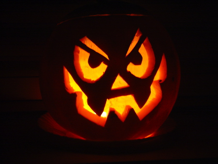 Halloween Pumpkin - dark, scarry, angry, celtic, halloween, irish, samhain, pumpkin