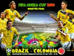 BRAZIL - COLOMBIA WORLD CUP 2014 QUARTER-FINAL