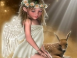 little angel and friend