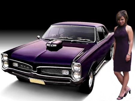 Classic pontiac purple girls and cars cars background - Muscle car girl wallpaper ...