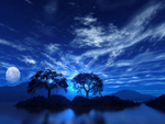 Clouded Blue Night