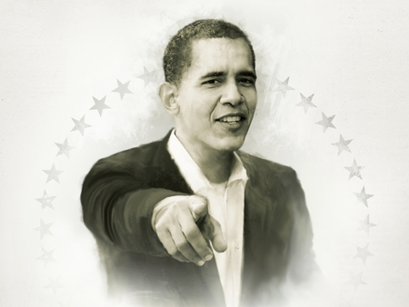 YES WE CAN ! - nobel prize, cool, people, boy, beautiful, hand, obama, barack obama, face, finger, portrait, stars, nice, smile, politique skz, white, political, leader, peace, usa, black and white, power, nobel, president, hope, drawing, popular, president obama