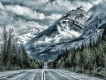 Mountain road alaska