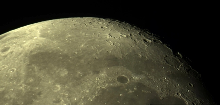 Lunar landscape - moon, space, craters, nature