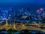 spectacular night view of bangkonk thailand hdr