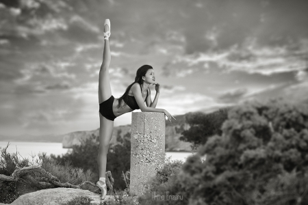 * - girl, photography, step, sunset, dancer, black and white, beauty