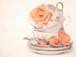 lovely roses and teacups