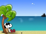 Snoopy In Paradise