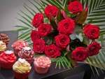 Red Roses and Cupcakes  for my Friends