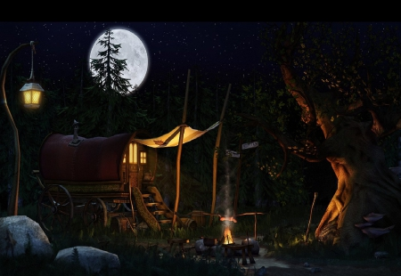 A Gypsy Camp - Fantasy & Abstract Background Wallpapers on ...