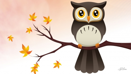 cute owl fall themed wallpapers - photo #16