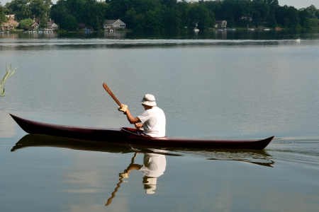 Kayak on the lake - lakeshore, kayaking, kayak, scenic lake, meyers lake, lakeside, Kayak on the lake