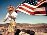 Cowgirl Salutes America & Freedom!