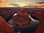sunset behind the canyon (fullHD)