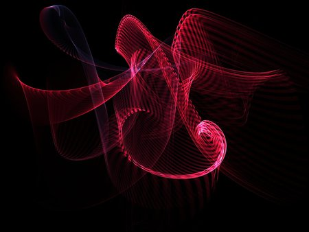 Roller Coaster - colored, colorful, abstract, apophysis, fractal, pattern, render, fractals, light, flame, background