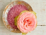 Rose and Bowl of Bath Salt
