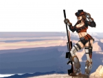 Cowgirl On A Mountain