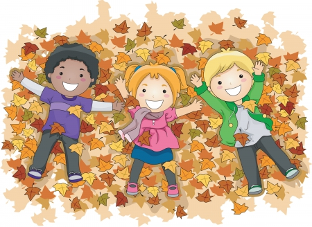 Image result for kids at play fall