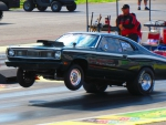 Plymouth Duster wheels up