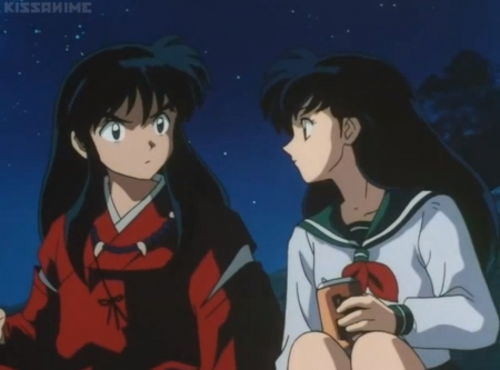 ♡ Couple ♡ - boy, male, beautiful, pretty, beauty, guy, anime, girl, female, nice, kagome higurashi, couple, kagome, long hair, anime couple, lovely, inuyasha, anime girl, black hair, sweet