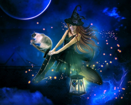 halloween flying witch - Flying Halloween Witch
