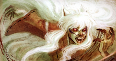 Demon blood - InuYasha, Yokai, Transformed, Manga, Demon Blood, Hanyo, Anime