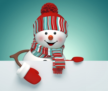 Xmas Snowman - 3D and CG & Abstract Background Wallpapers ...