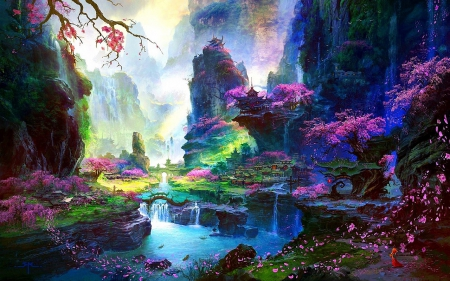 Oriental fantasy fantasy abstract background - Fantasy land wallpaper ...