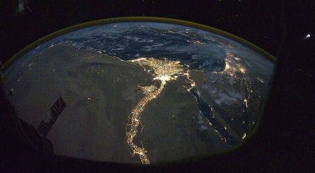 Nile River from space - space, river, egypt, nile