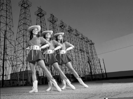 Nostalgic Cowgirls - Kilgore Rangerettes, style, fun, dancers, hats, female, boots, western, cowgirls