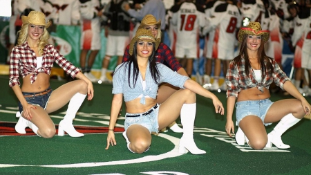 When Cowgirls Smile - style, fun, dancers, hats, women, female, boots, models, western, girls, cowgirls