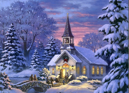 ★country Church★ Winter Amp Nature Background Wallpapers